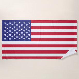Amerikanische Flaggen-patriotisches US Flagge Strandtuch