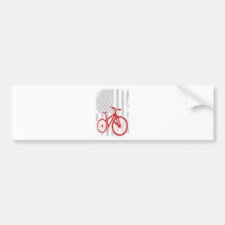 Amerikanische Flaggen-radfahrenT - Shirt Autoaufkleber