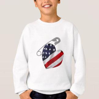 Amerikanische Flaggen-Sicherheits-Button Sweatshirt
