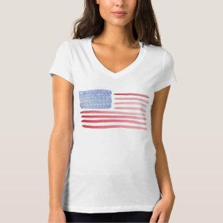 Amerikanische Flaggen-T - Shirt USA