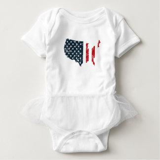 Amerikanische Flaggen-USA Baby Strampler