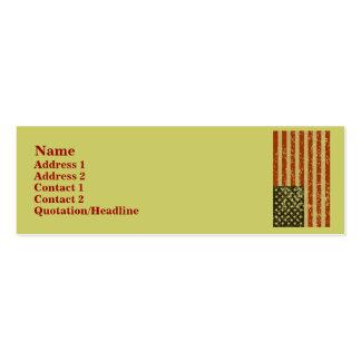 Amerikanische Flaggen-Visitenkarten Mini-Visitenkarten