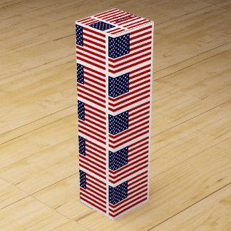 Amerikanische Flaggen-Wein-Kasten mit Weinbox