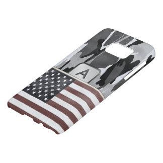 Amerikanische Flaggen-Winter-Camouflage-Monogramm