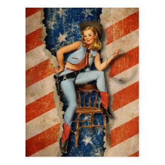 Amerikanische Flaggepatriotisches freches Postkarte