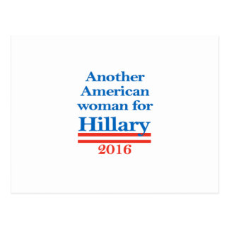 Amerikanische Frau für Hillary Clinton Postkarte
