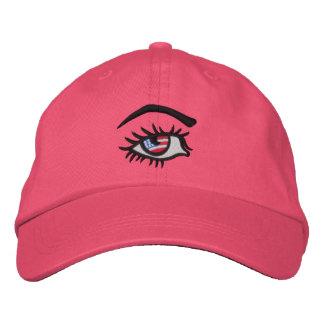 Amerikanische Frau gestickter Hut Bestickte Kappe