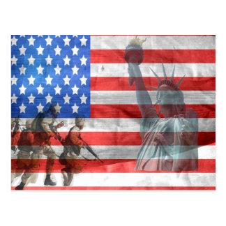 Amerikanische Freiheit Postkarte