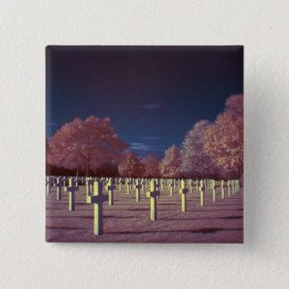 Amerikanische Friedhofs-Infrarotkreuze Quadratischer Button 5,1 Cm