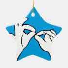Amerikanische Gebärdensprache ASL INTERPRETIEREN Keramik Ornament