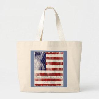 Amerikanische Geburtstags-Tasche Jumbo Stoffbeutel