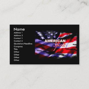 Amerikanische Flagge Visitenkarten Zazzle De