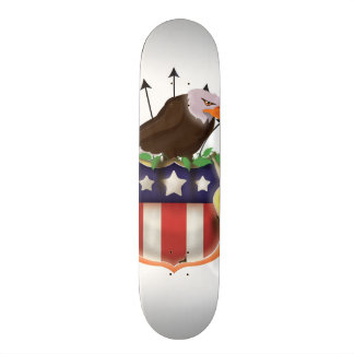 Amerikanische goldener Adler-US Flagge-Flagge 21,6 Cm Skateboard Deck