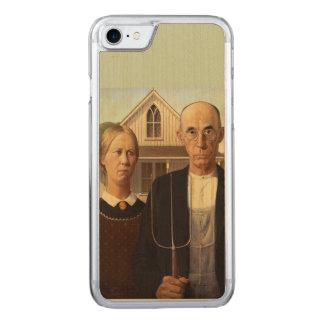 Amerikanische gotische Kunst-Malerei Grant Woods Carved iPhone 8/7 Hülle