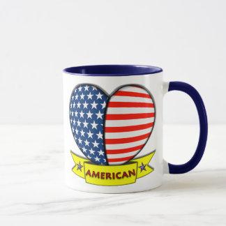 Amerikanische Herz-Tasse Tasse