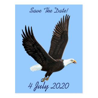 Amerikanische kahler Adler-Save the Date Postkarte