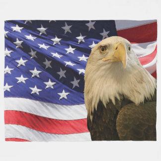Amerikanische kahler Adler-und Fleecedecke