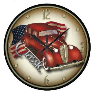 Amerikanische klassische Auto-Wanduhr Große Wanduhr