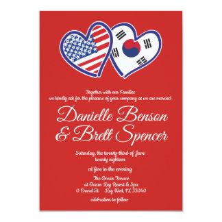 Amerikanische koreanische Liebe-Wedding Einladung