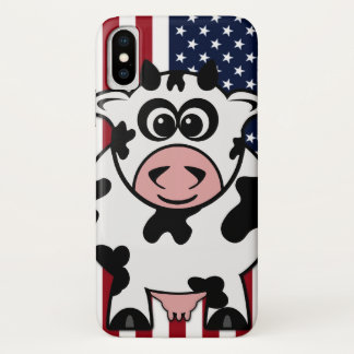 Amerikanische Kuh iPhone X Hülle