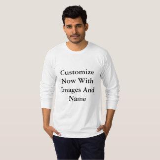 Amerikanische lange Hülsen-Männer T-Shirt