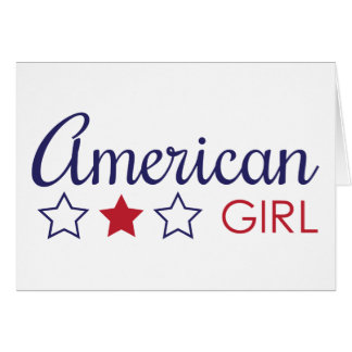 Amerikanische Mädchen-Sterne Karte