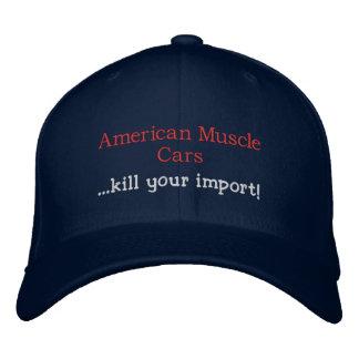 Amerikanische Muskel-Auto… Tötung Ihr Import! Bestickte Caps