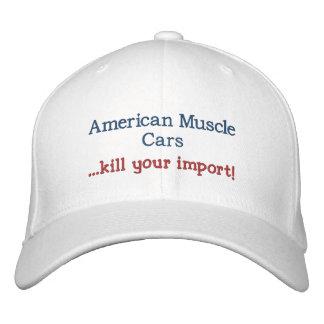 Amerikanische Muskel-Auto… Tötung Ihr Import! Bestickte Baseballkappe