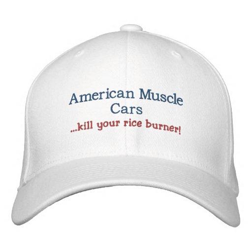 Amerikanische Muskel-Auto… Tötung Ihr Reisbrenner Bestickte Kappen