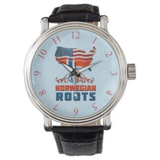 Amerikanische norwegische Wurzel-Uhr Uhr