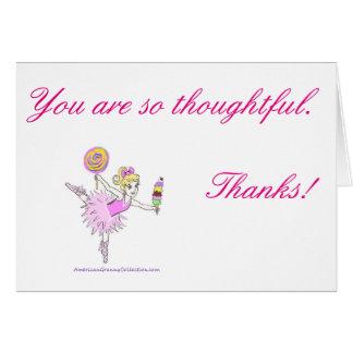 Amerikanische Oma-Ballerina danken Ihnen Karten