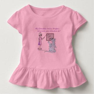 Amerikanische Oma-Trainings-Drachen gekräuselte Kleinkind T-shirt