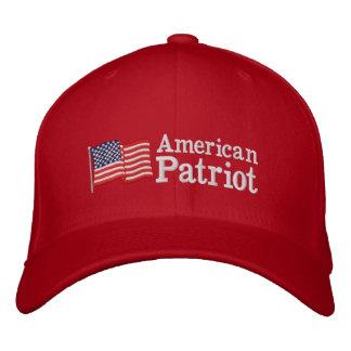 Amerikanische Patriot-Flagge R Bestickte Caps
