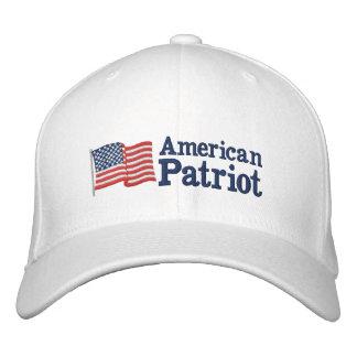 Amerikanische Patriot-Flagge W Bestickte Baseballmütze