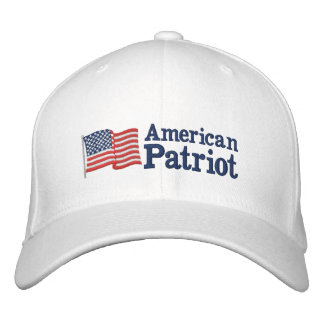 Amerikanische Patriot-Flagge W Besticktes Baseballcap