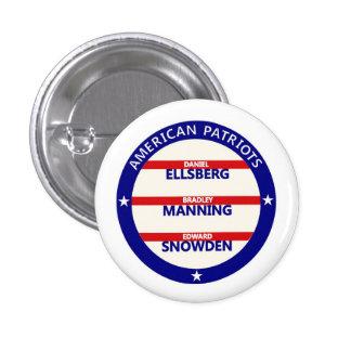 Amerikanische Patrioten Runder Button 2,5 Cm