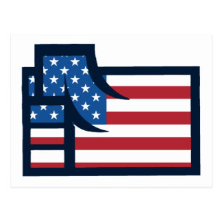 Amerikanische patriotische Faust Postkarte