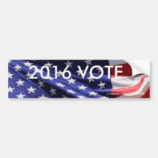 Amerikanische patriotische Flagge 2016 ABSTIMMUNG Autoaufkleber