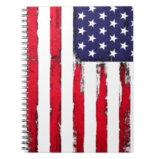 Amerikanische patriotische Schmutzflagge Spiral Notizblock
