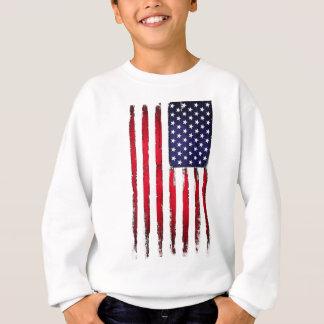 Amerikanische patriotische Schmutzflagge Sweatshirt