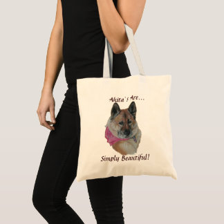 Amerikanische Pintoakita-Hundeporträt-Realistkunst Tragetasche