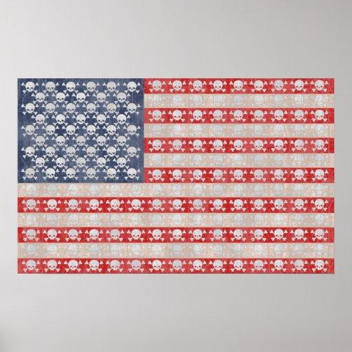 Amerikanische Piraten-Flagge Posterdrucke