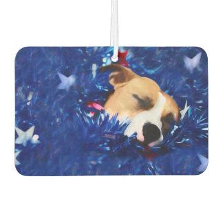 Amerikanische Pitbull Terrier USA patriotischer Autolufterfrischer