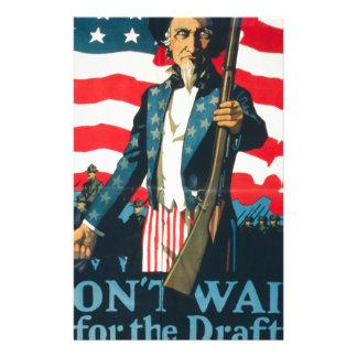 Amerikanische Propaganda Briefpapier