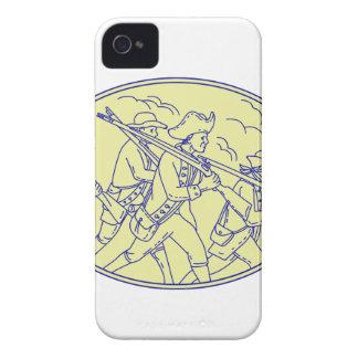 Amerikanische revolutionäre Soldat-marschierendes iPhone 4 Hülle