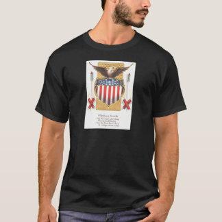 Amerikanische Schild-Weißkopfseeadler-Feuerwerke T-Shirt