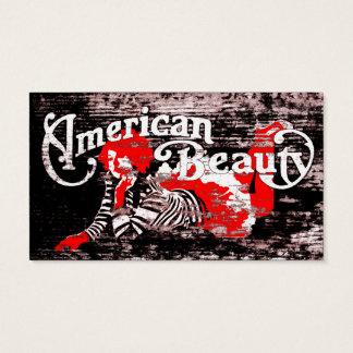amerikanische Schönheitsverabredungskarte Visitenkarte