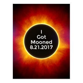 Amerikanische Sonnenfinsternis erhält Mooned am Postkarte