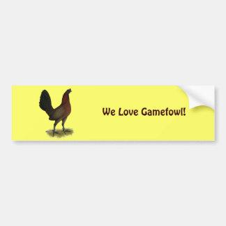 Amerikanische Spiel-Schwarz-Rot-Henne Autoaufkleber