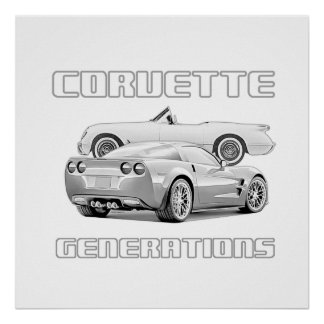 Amerikanische Sport-Auto-Ikone Poster